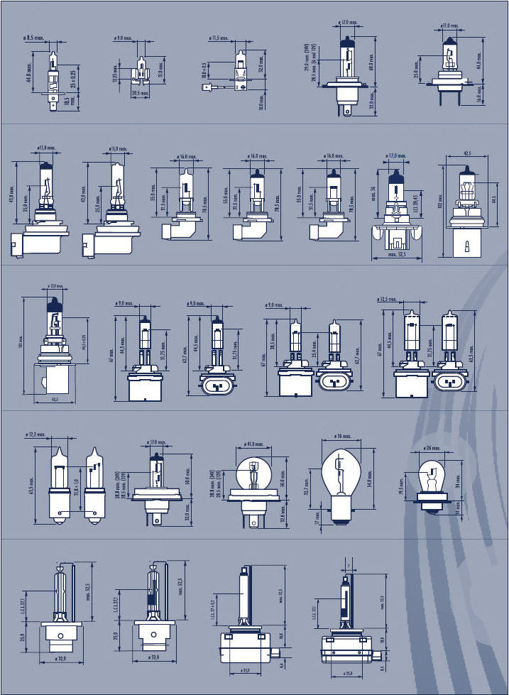 infothek kfz leuchtmittel kfz sockel bersicht. Black Bedroom Furniture Sets. Home Design Ideas