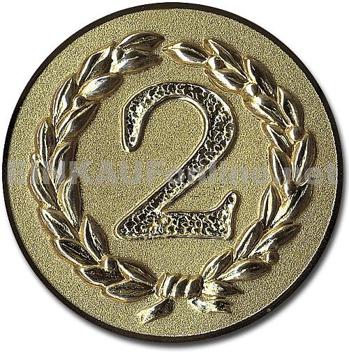 Pokal Emblem Zweiter Sieger Gold 11l920