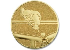 Pokal Emblem Pool Billard Gold 12j155