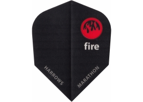 HARROWS Flight-Set Standard Marathon Fire 1522 extra strong Schwarz-Rot