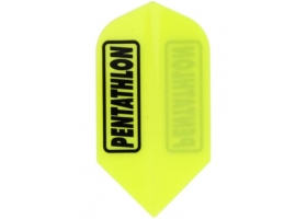 PROFIDART Flight-Set Slim Polyester Pentathlon Gelb Neon