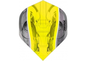 PROFIDART Flight-Set Standard Polyester Pentathlon Clear Silver Edge Yellow