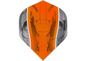 PROFIDART Flight-Set Standard Polyester Pentathlon Clear Silver Edge Orange