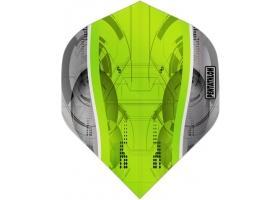 PROFIDART Flight-Set Standard Polyester Pentathlon Clear Silver Edge Green