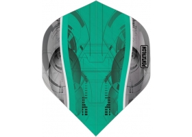 PROFIDART Flight-Set Standard Polyester Pentathlon Clear Silver Edge Aqua