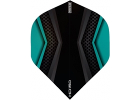 PROFIDART Flight-Set Standard Polyester Pentathlon Clear HD150 Aqua-Black