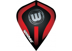 WINMAU Flight-Set Kite Mega Polyester Schwarz-Rot 6400