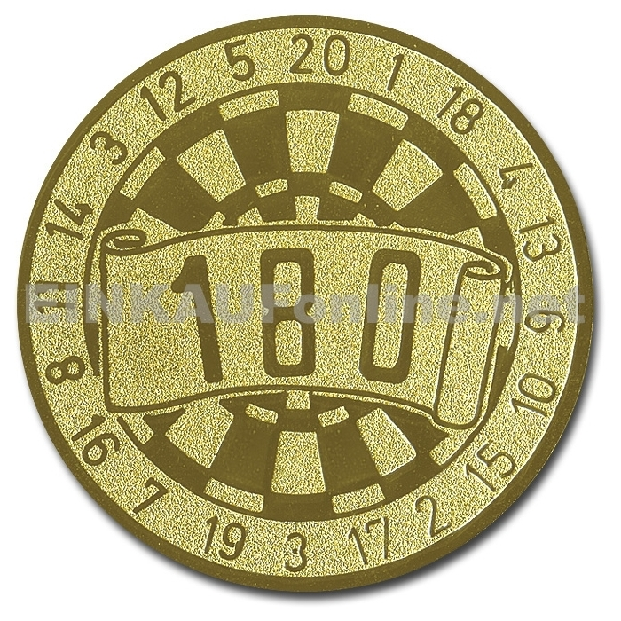 Pokal Emblem Dart 180 Gold 22l368