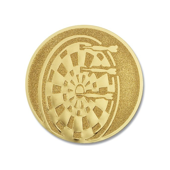 Pokal Emblem Dartscheibe Gold 22l857