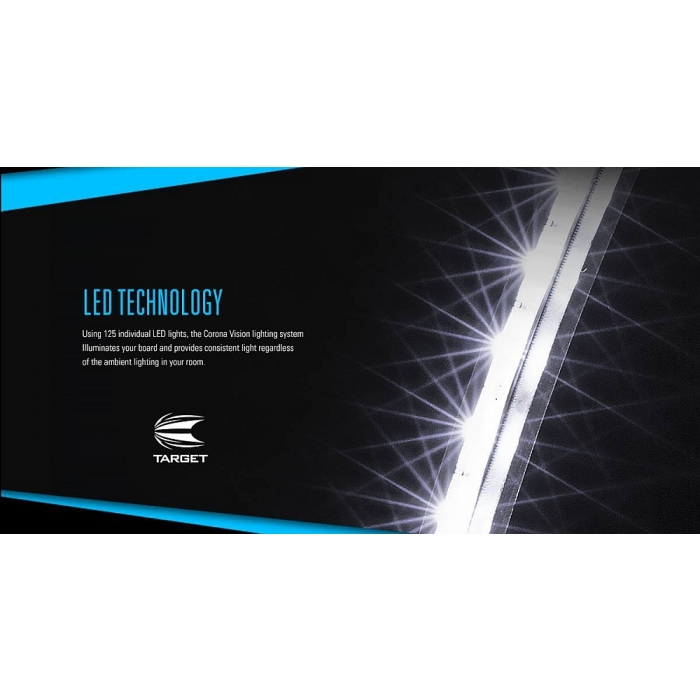 target led dartboard beleuchtung lighting system corona. Black Bedroom Furniture Sets. Home Design Ideas